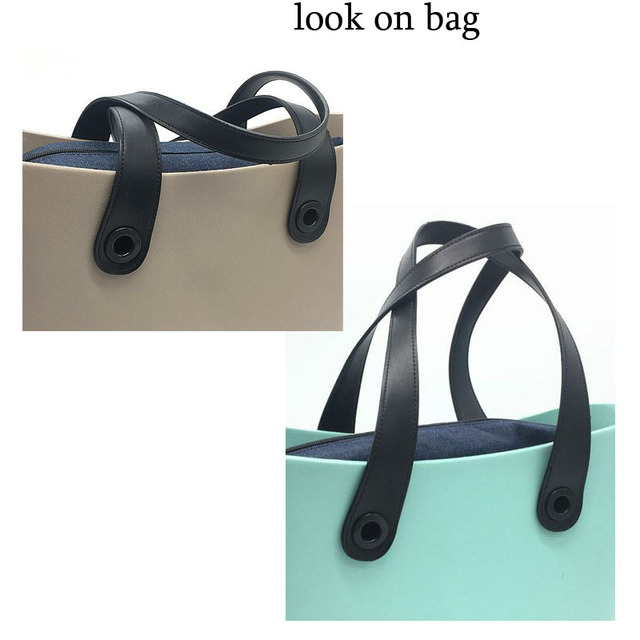 1 Pair Pu Leather Handles For Obag Mini Size Tote Bag Classic Handbag Handle