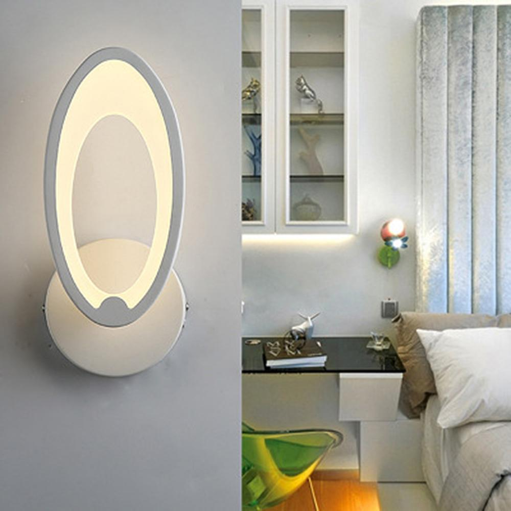 LED Light Modern Wall Lamp Acrylic Sconce 12W AC90 260V Oval Shape Indoor Bathroom Bedroom Living Room Hallway Art Decoration|LED Indoor Wall Lamps| |  - title=