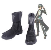 Sword Art Online Fatal Bullet Kirito Cosplay Costume Boots Shoes Halloween Party Custom Made for Adult Men Shoes Accessories