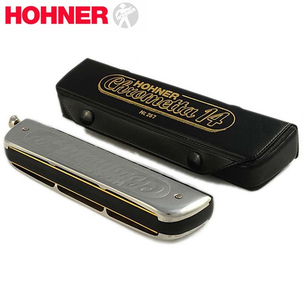 Harmonica D'entrée Économique Chromatique 14 Trou 56 Orgue à Bouche Instrumentos Harmonica C Musical Instruments Hohner Chrometta 14 - 6
