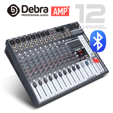 Good quality, Clean sound!!! 12 Channels 750 Watt Power amplifier Mixer Digital Audio dj controller with 48V Phantom Power USB manufacturer supply ct 60s 6 channels dj music mixer with the amplifier