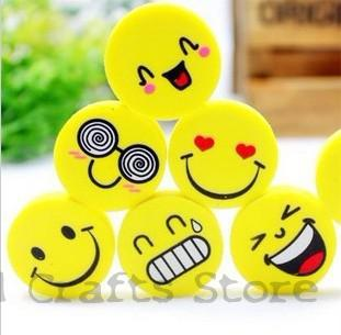 все цены на (4Pcs/Set) Emoji Eraser Emotion Kawaii Eraser Pencil Novelty Stationery School Supplies Kawaii Material  Cute Erasers Hot