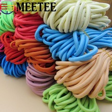 10Meters 5mm Eco-Friendly Round Elastic Cord Soft Stretch Bands Rope For Baby Clothes Pant Belt DIY Garment Accessories