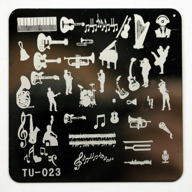 Aliexpress.com : Buy New Music Instruments Nail Stamping Plates ...