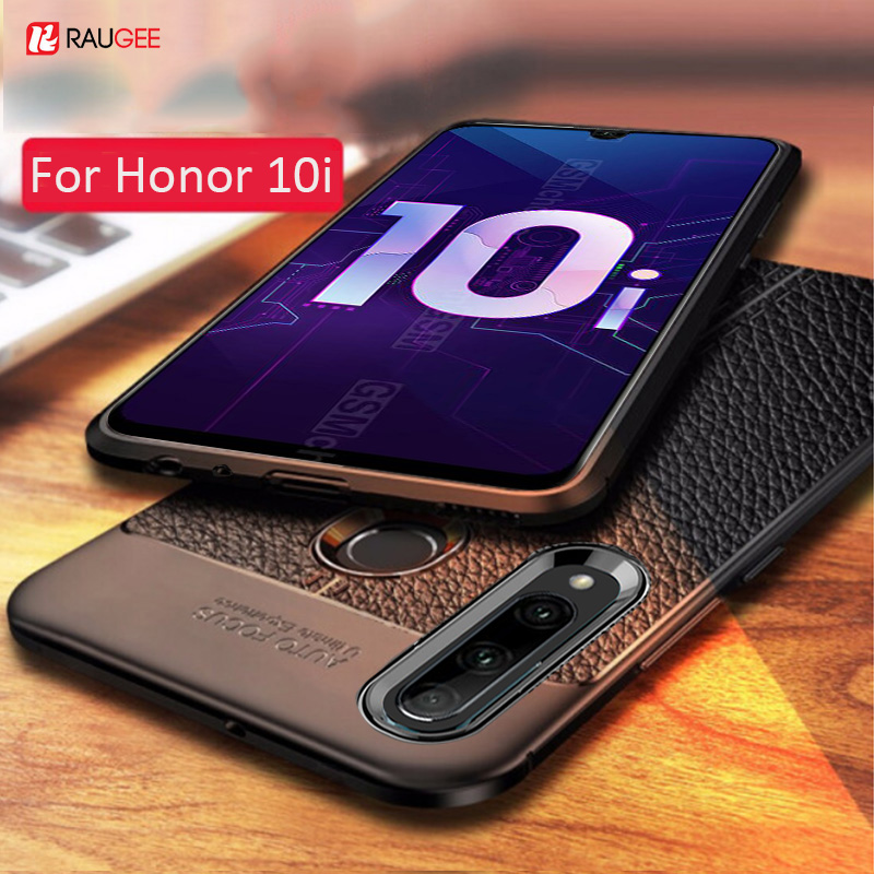 For Honor 10i Case Leather Style Cover Durable TPU Phone Case On For Huawei Honor 10 I Cover Full Protection Shockproof Bumper