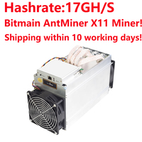 Shipping within 10 working days after full payment! Bitmain ANTMINER D3 don't Include PSU 17GH/s DASHCOIN X11 MINER