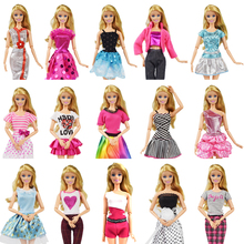 Hot Fashion Party High Quality Doll Clothes Cute Dress Casual Clothes for Barbie Doll Accessories Girl Best Gift Toys