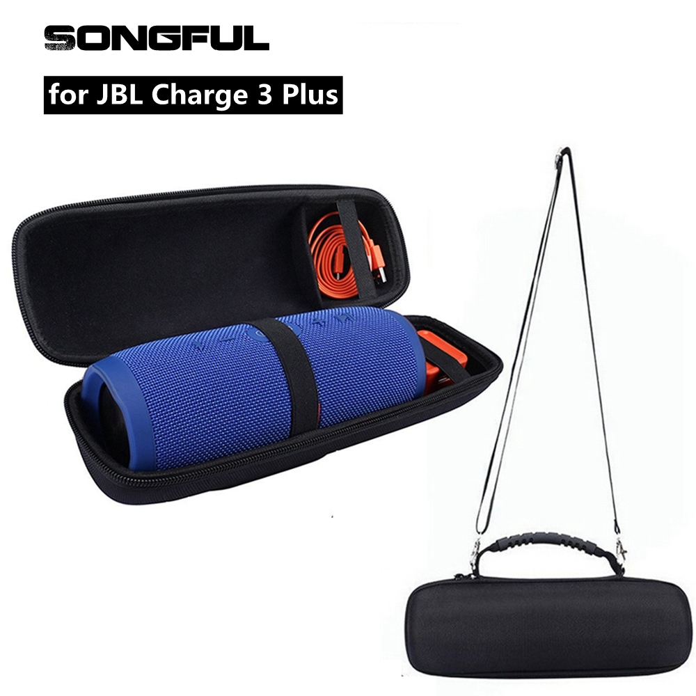 Column Speaker Case for JBL Charge 3 Plus Wireless Bluetooth Speakers Charge3 Sound Box Storage Carry Bag Pouch with Hand Strap