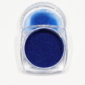 Image 3 - 1 flasche Glitter Nagel Pulver Staub Blühende Nail art Design Meerjungfrau Schimmer Blau Farbe Decor Tauch Pigment Maniküre LABJ
