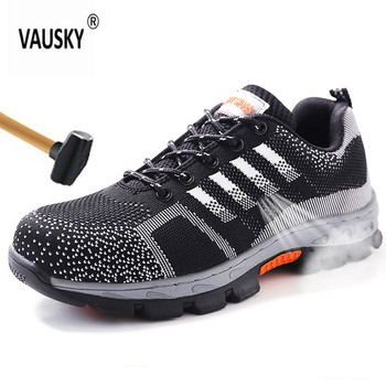 indestructible shoes Men Steel Nose Safety Work Shoes Breathable men shoe sneakers Anti-piercing wearable Protection footwear