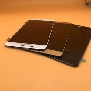 Image 1 - شاشة جديدة فائقة AMOLED LCD لهاتف سامسونج Galaxy A9 شاشة رقمية تعمل باللمس 2016 A9 Pro A910 A9100 قطع غيار