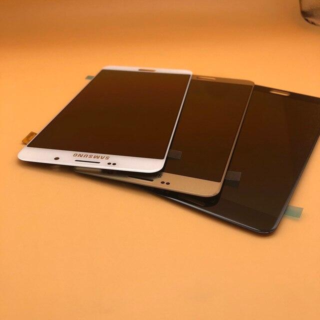 شاشة جديدة فائقة AMOLED LCD لهاتف سامسونج Galaxy A9 شاشة رقمية تعمل باللمس 2016 A9 Pro A910 A9100 قطع غيار