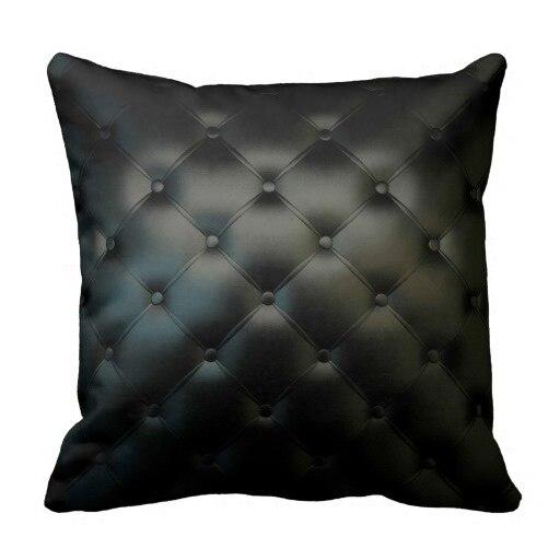 amricain imprim lit taie doreiller magnifique noir en cuir texture taie doreiller - Set De Chambre King Noir
