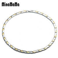 Ion Far Infrared Health Energy Necklaces Stainless Steel Hematite Germanium Necklace for Women Men medical Necklace