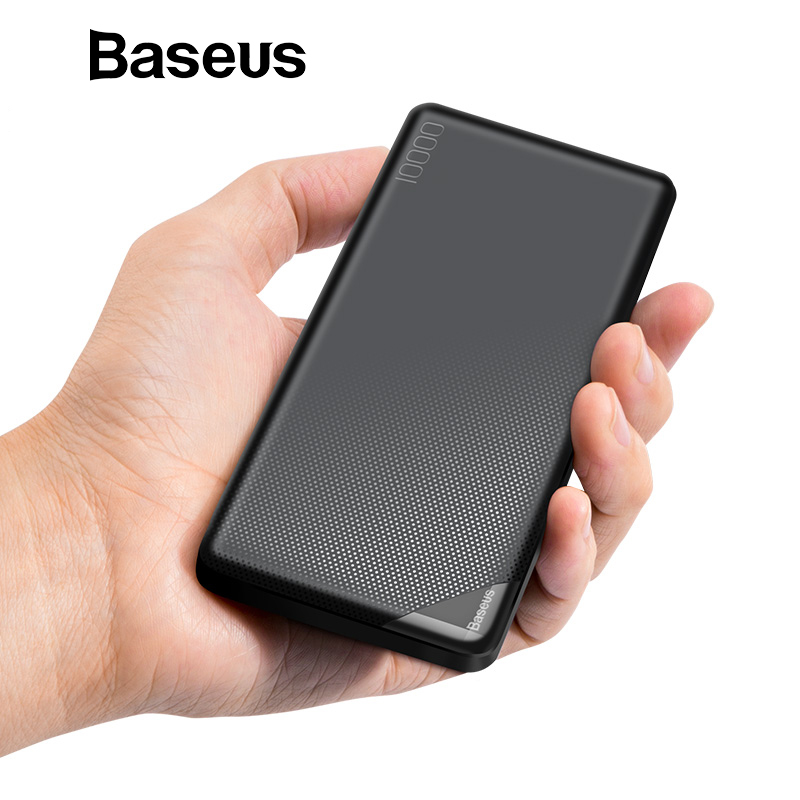 Baseus Dünne 10000 mah Power Bank Tragbare Dünne Polymer Power Externe Batterie Pack mit Dual USB Ausgang Power-bank für Telefon