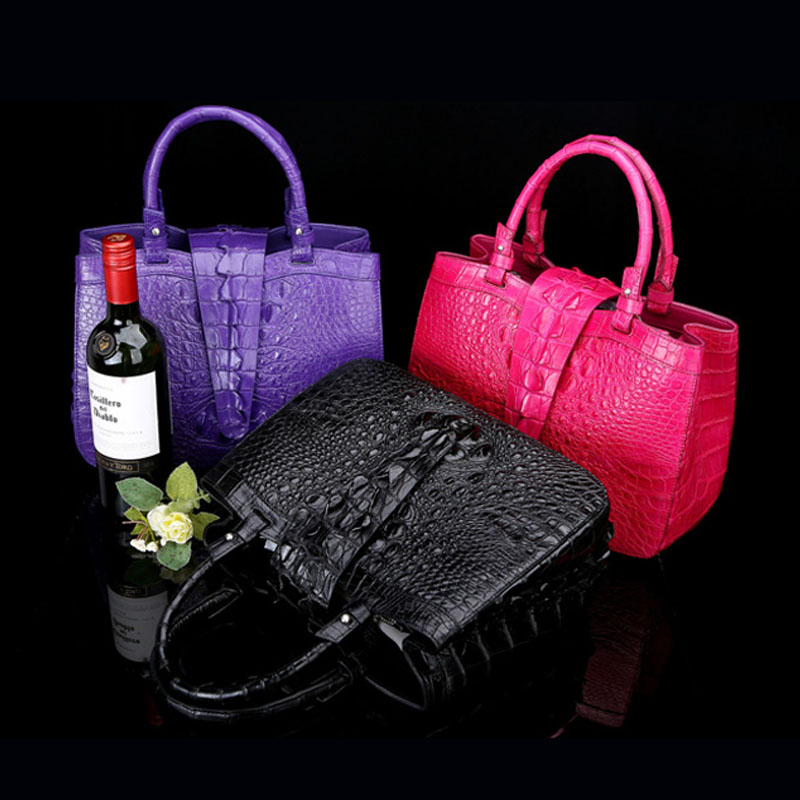 New 2017 high-end luxury crocodile skin handbags handbags Europe and the United States big leather dinners ladies wrist bags yuanyu new 2017 hot new free shipping crocodile leather women handbag high end emale bag wipe the gold