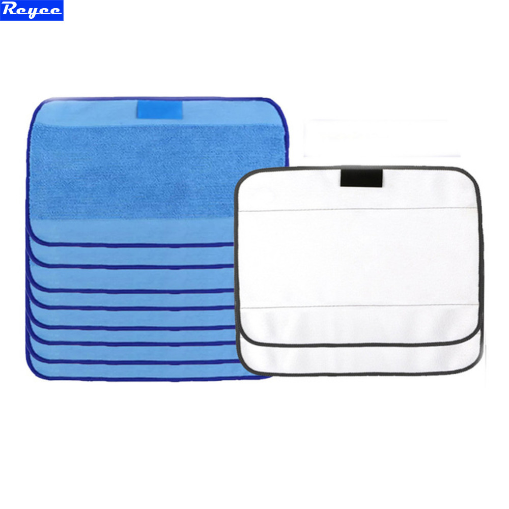 Microfiber 8pcs Wet & 2pcs Dry Dweeping Pro-Clean Mopping Cloths for Robot irobot Braava Minit 4200 5200 5200C 380 380t philips brl130 satinshave advanced wet and dry electric shaver