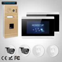 HOMSECUR 7 Video Door Phone Intercom System CCTV Camera Motion Detection Alarm Function for Home Security BC061 G + BM715 S