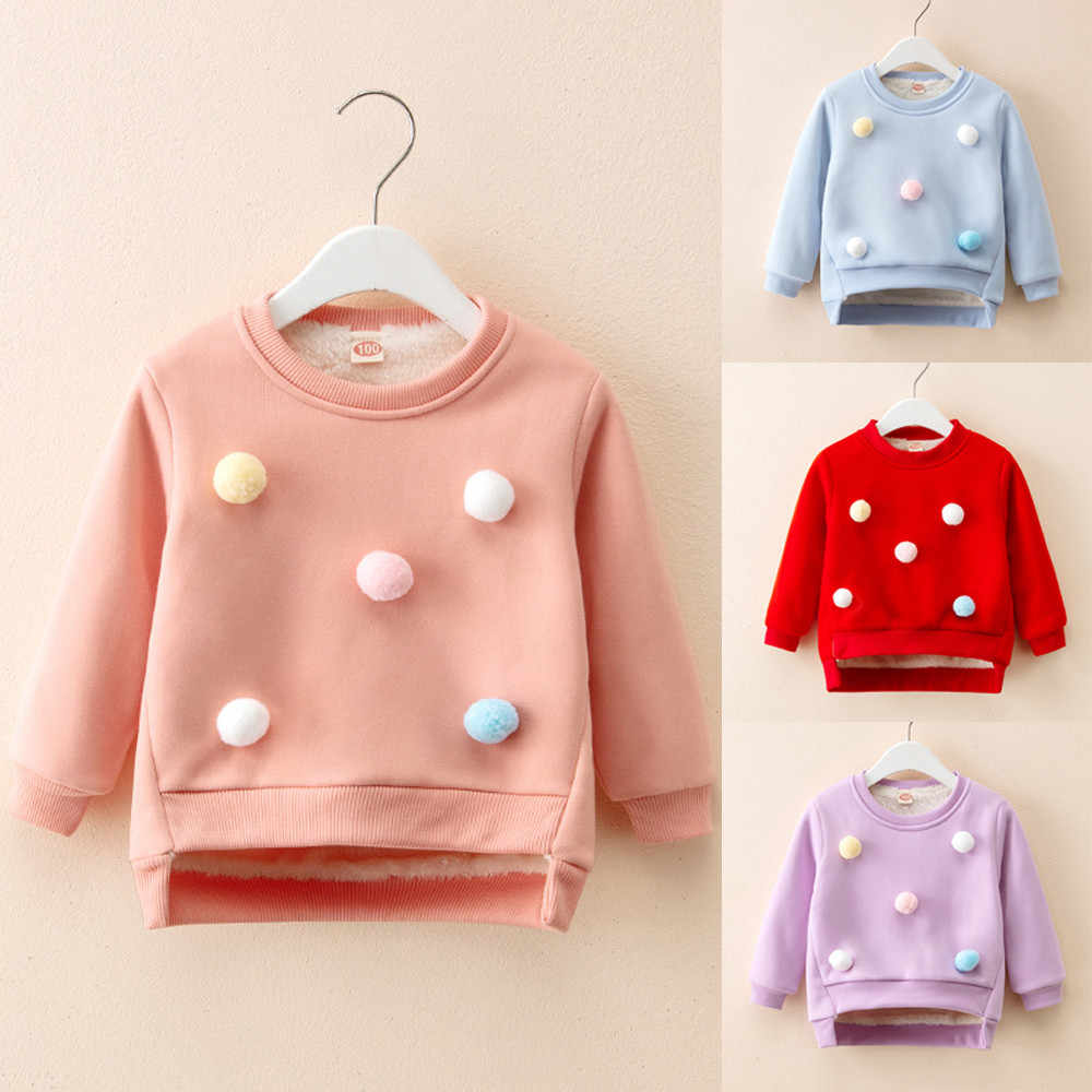 Toddler Kids Baby Boy Girl Thick Pullover Tops Warm Clothes Outfits Baby Sweater Kids Baby Girls Cardigan Girl Winter Clothes