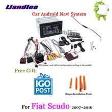 Liandlee Android 8 для Fiat Scudo 2007 ~ 2016 стерео радио Carplay Камера USB Wifi BT CD DVD gps карта навигатор навигации Системы