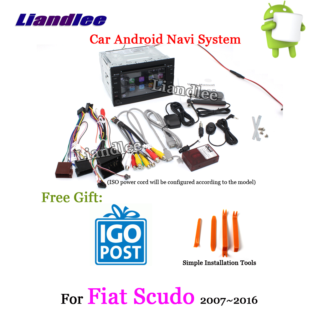 Liandlee Android 8 UP Para Fiat Scudo 2007 ~ 2016 Estéreo Rádio Do Carro Carplay Câmera USB Wifi BT CD DVD mapa do GPS Navi Sistema de Navegação