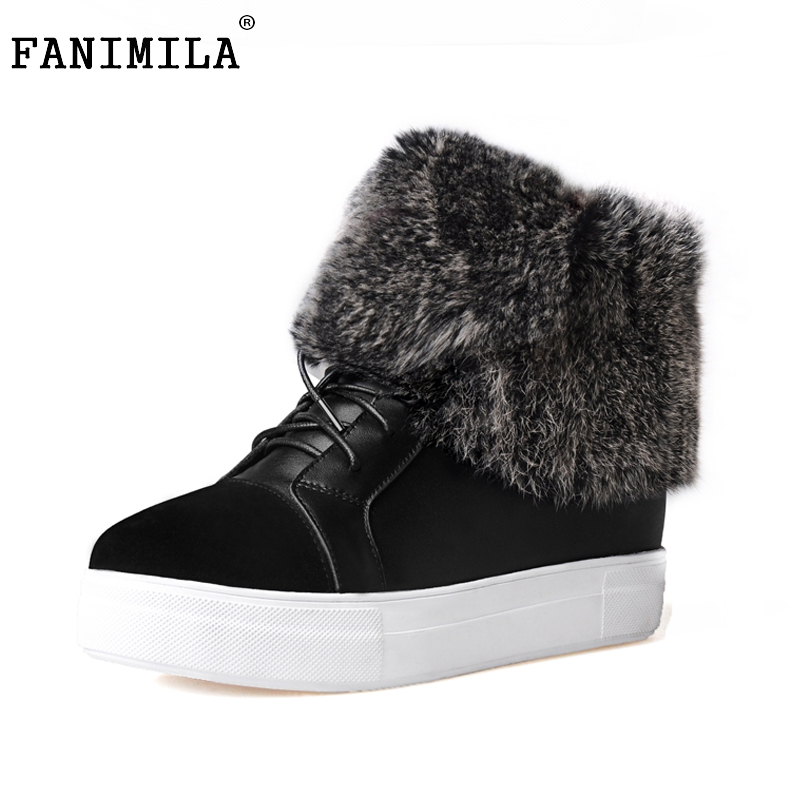 Winter Genuine Real Leather Women Ankle Lace Up Boots Snow Fur Boots Casual Flats Fashion Women Shoes Botas Mujer Size 35-39 roxdia new fashion genuine leather winter men ankle boots man warm snow boot fur work lace up shoes plus size 39 44 rxm474