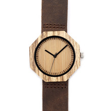 New Top Brand Design Bamboo Wooden Watches Japan Quartz Wood Bamboo Wristwatches Genuine Leather Men Women Luxury BandWatches