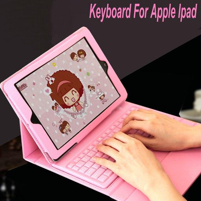Для Apple Ipadmin 1/2/3 IPad 2/3/4 Беспроводной Bluetooth Силиконовые Гибкие Складные Клавиатуры крышка Корпуса Планшета