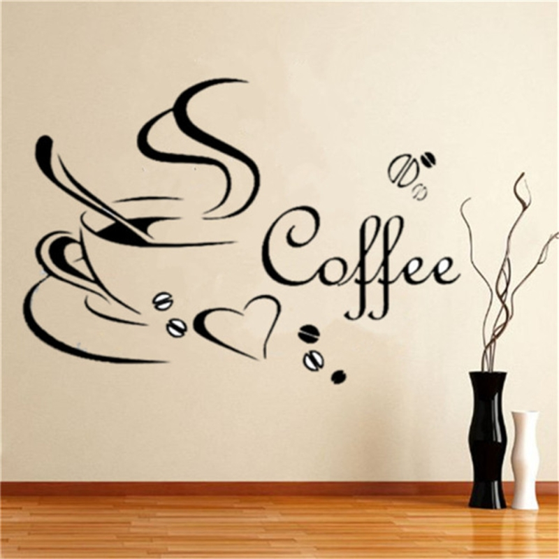 New Wall Decals Kitchen Coffee Wall Stickers Wall Sticker Removable For Dining Room Cafe And Restaurant Room Decal