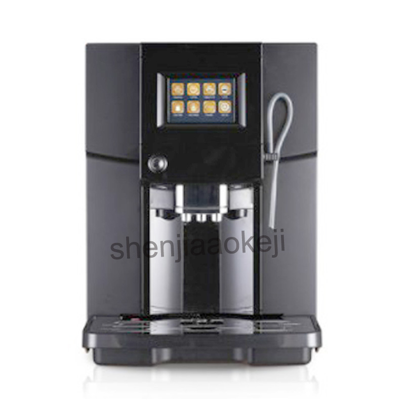 Touch Commerical Fully Automatic Coffee Machine LCD Espresso Coffee Machine & Coffee Grinder 19 Bar Cappuccino Maker 220V 1 PC