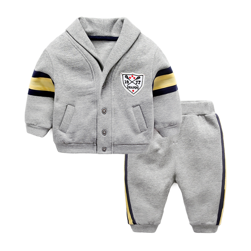 Baby sets thin velvet set infant coat and pants spring and autumn