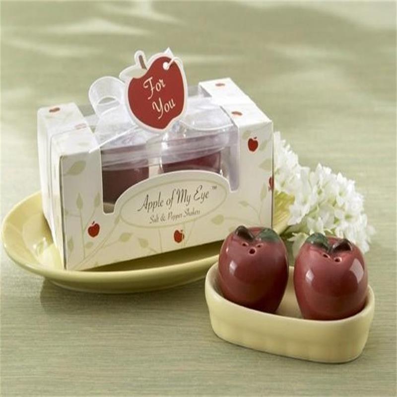 Porcelain Wedding Favors: 12pcs+ Apple Salt And Pepper Shakers Ceramic Wedding