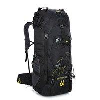 Heißer Verkauf 60L Outdoor Rucksack Camping Tasche Wasserdichte Bergsteigen Wandern Rucksäcke Molle Sport Tasche Klettern Rucksack-in Klettern Taschen aus Sport und Unterhaltung bei