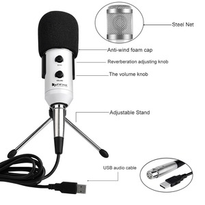 Image 2 - Fifine USB Microphone, Plug & Play Condenser Microphone For PC/Computer Podcasting one line meeting self studioRecording (K056)