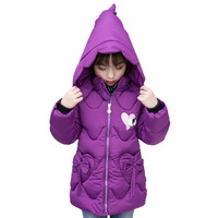 Rlyaeiz 2018 Fashion Baby Girls Coat Winter Jacket Cute Clothing Children Cotton Padded Hooded Jacket Kids Down Jackets For Girl
