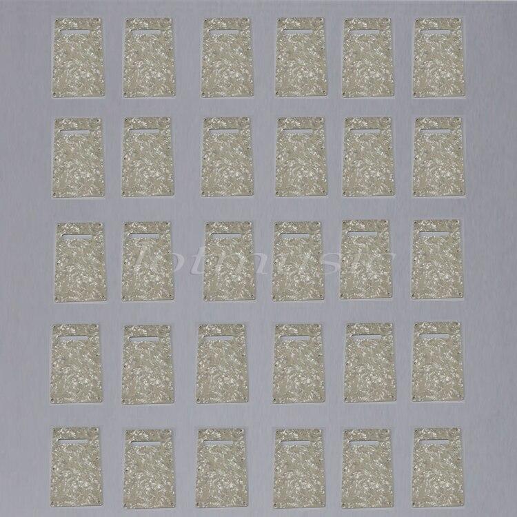 30 pièces 3ply Pearloid Trem couverture plaque arrière pour garde-boue Strat guitare remplacement