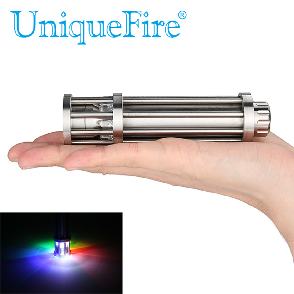 Uniqurfire 5 Mode F8 Cree R5 Stainless Steel Birdcage Design Torch Multi Color Toughened Glass Flashlight oregon state beavers stainless steel birdcage necklace