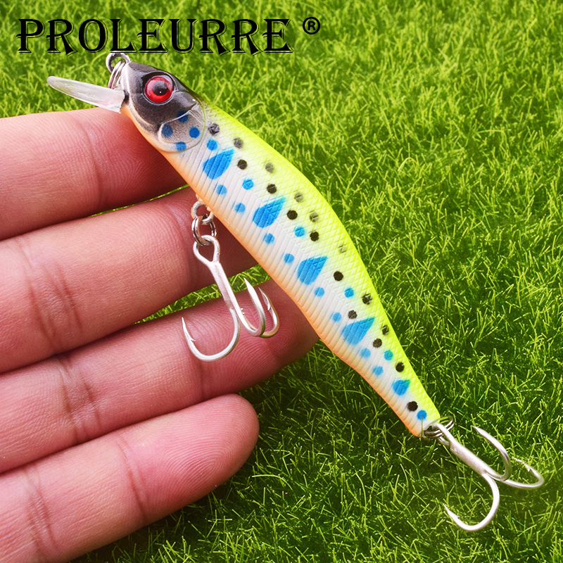 Proleurre Professional Wobbler Slow Sinking Minnow 1-2M Depth Fishing Lure 90MM 8.5G Bass Pike Artificial hard Baits Peche