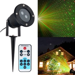IP65 zewnętrzny ruchomy pełny gwieździste niebo projektor laserowy światło krajobrazu Laser LED ogród wodoodporny boże narodzenie światła sceniczne reflektor w Zewnętrzne oświetlenie od Lampy i oświetlenie na