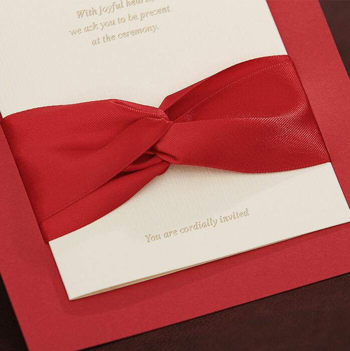 30pcs Pack Elegant Luxury Ribbon Paper Card With Envelope For Business Invitation Wedding Event Party Supply In Cards Invitations From