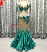 Lady Performance clothes senior Embroidery bra top/sleeves/long skirt 3pcs belly dance set girls dance clothing,S/M/L bra suit