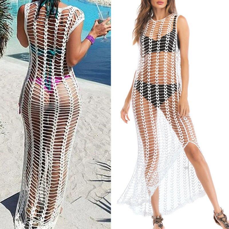 Ladies Bathing Swimsuits Bikini Hollow Wrap Pareo Cover Up Beach Dress YS-BUY 1