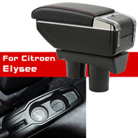 Leather Car Armrest For CITROEN Elysee Centre Console Storage Box