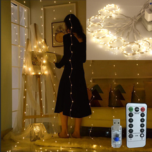 3M*3M Twinkle Star LED Christmas Garland Window Curtain String Light Wedding Party Garden Bedroom Outdoor Indoor Wall Decoration все цены