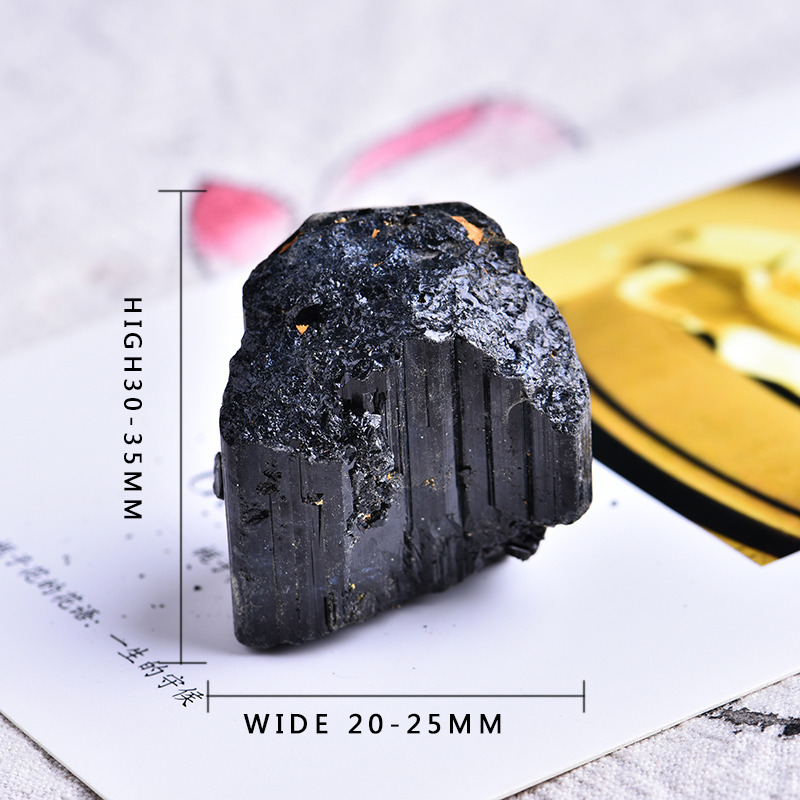 2pc natural black tourmaline tourmaline repair ore can be used for home decoration  DIY gift cokkection free shipping 5
