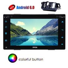 Rearview Camera +two 2din Android 6.0 Car DVD Player Stereo 1024600 Screen Radio Stereo with GPS Navigation Wifi USB/SD FM Radio