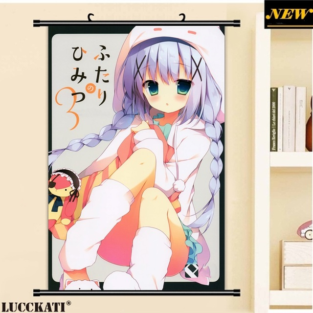 40X60CM Gochuumon wa Usagi Desu ka Rabbit cameltoe loli lolita cartoon anime wall picture mural scroll canvas painting poster