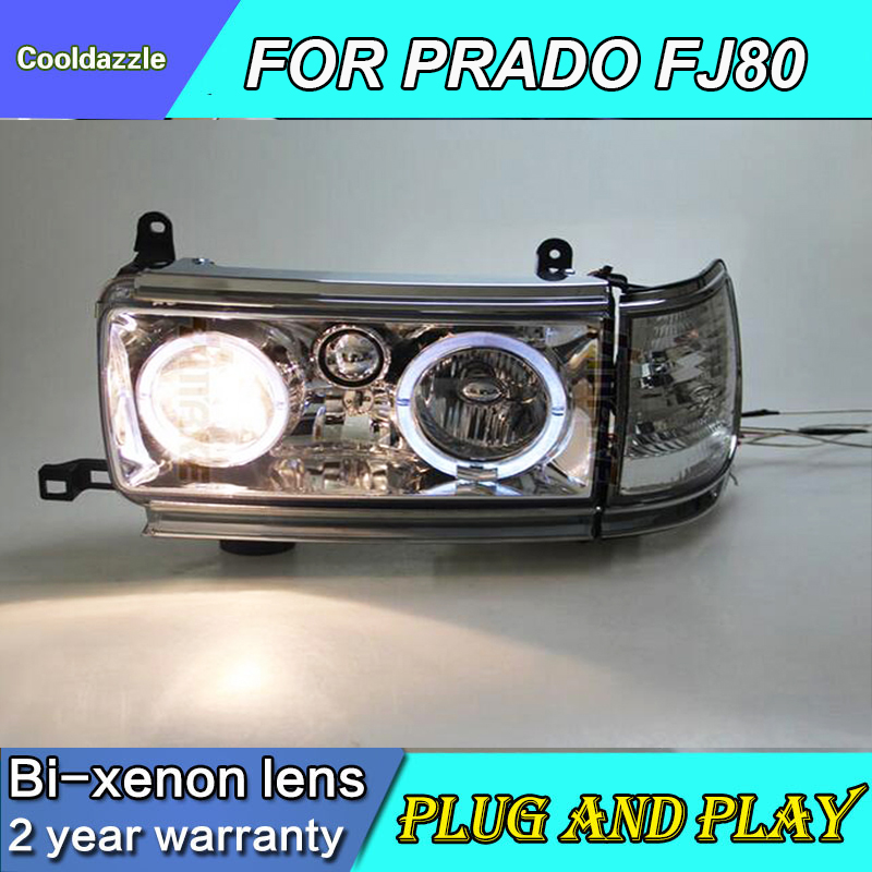 For TOYOTA FJ80 LC80 FZJ80 4500 LED Head Lamp Headlights 90-97 Year With HID Xenon Daytime Running Lights DRL Turning Lights
