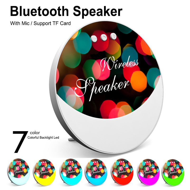 Wireless Bluetooth Speaker Colorful LED Portable USB Music Player F6 Wireless Super Bass Mini Speaker Support TF Card in Portable Speakers from Consumer Electronics