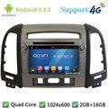 5.1.1 Quad Core 1024*600 Android Car Multimedia Reproductor de DVD de Radio Pantalla 3G/4G WIFI Mapa GPS Para Hyundai SANTA FE 3 Agujero 2006-2012